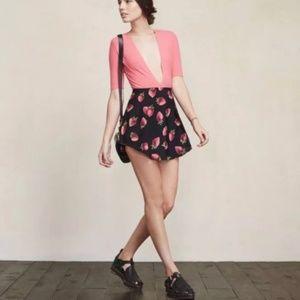 Reformation Strawberry Print Naomi Skirt